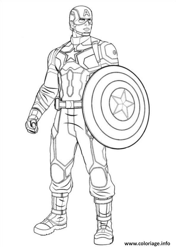 Coloriage Captain America Civil War 04 Jecoloriecom