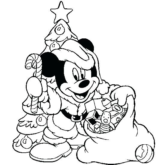 Minnie Mouse Christmas Coloring Pages at GetColorings.com ...