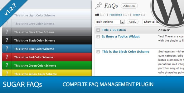 Sugar FAQs v1.3.1 - WordPress FAQ Management Plugin