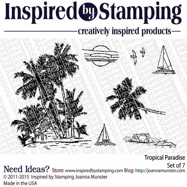 Inspired by Stamping Tropical Paradise stamp set