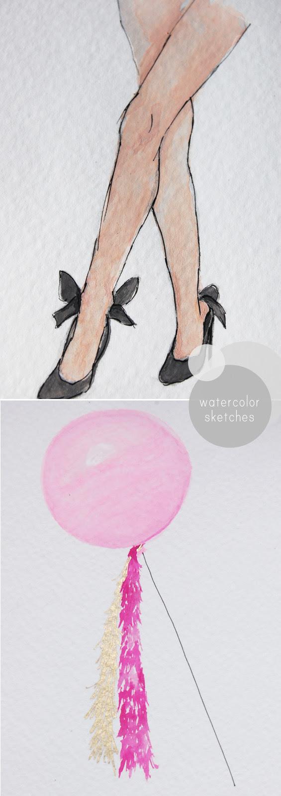 water color fashion sketch illustration legs