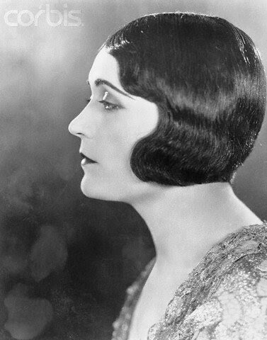 Pola Negri Wearing Petal Bob Haircut