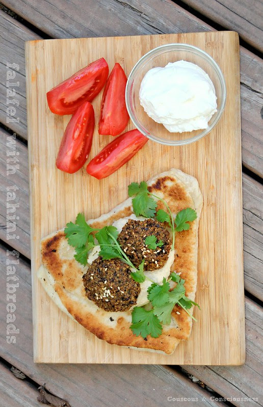 Falafel with Tahini Flatbreads 2