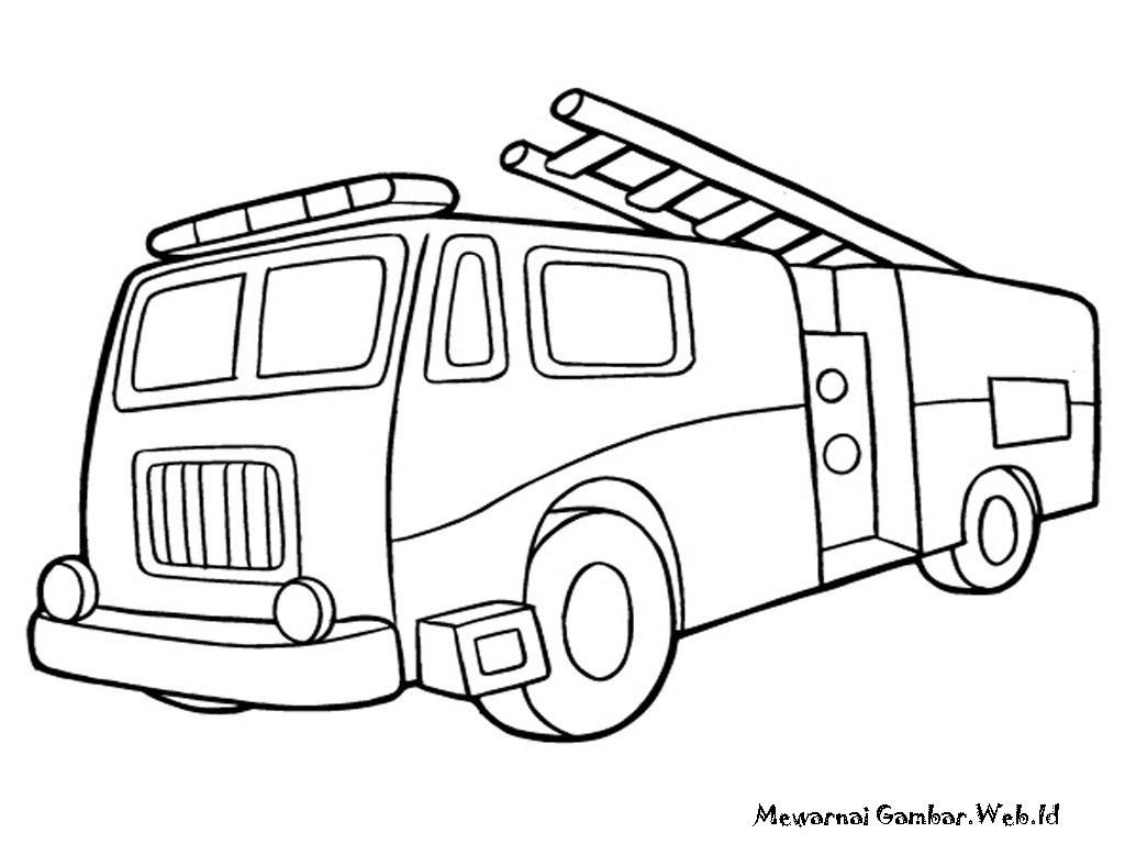 Fire Truck Line Drawing At Getdrawings Com Free For Personal Use