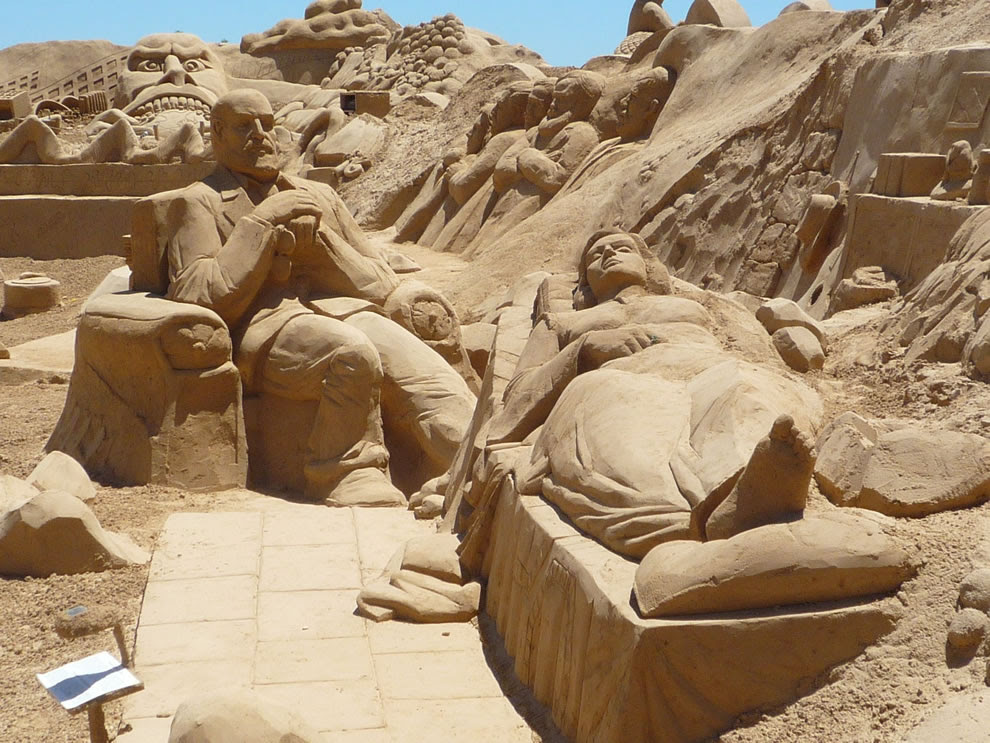 Freud having sand session