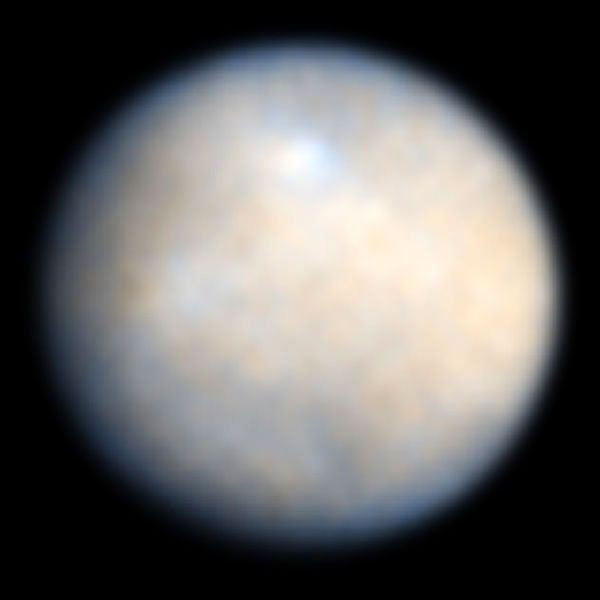 A Hubble Space Telescope image of dwarf planet Ceres, which the Dawn spacecraft will visit in 2015.