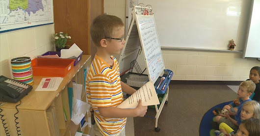 3rd grader starts school year with speech about autism