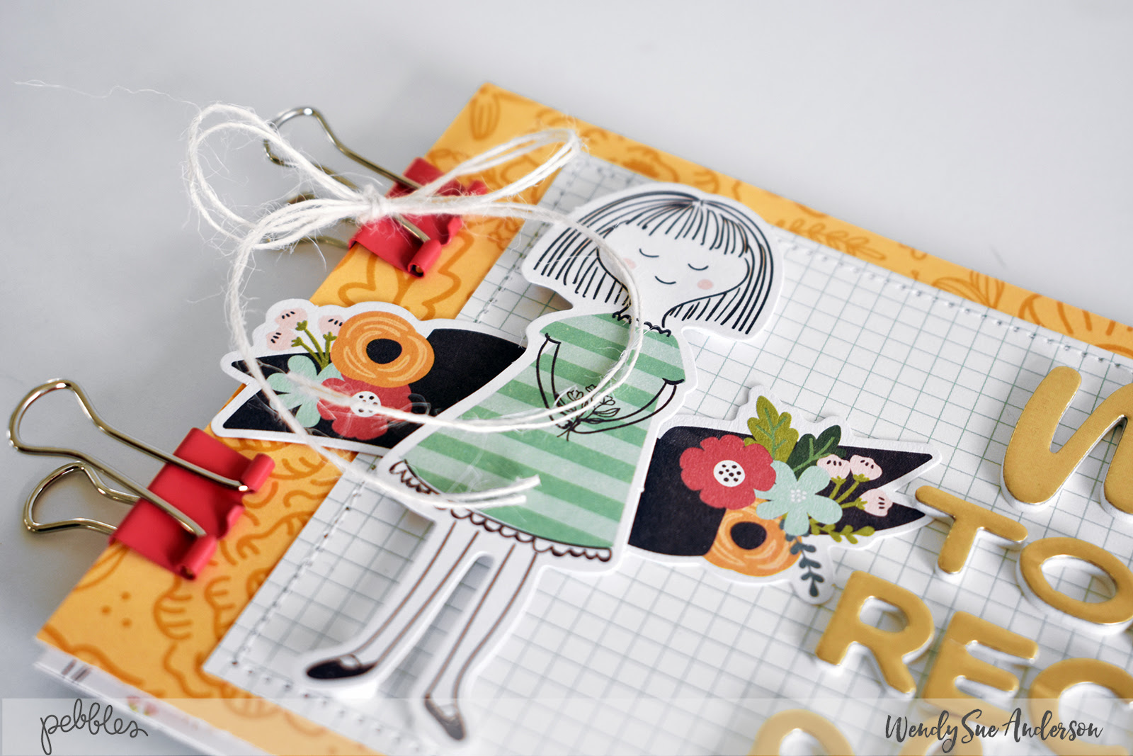 """New Year's Resolution Recipe Book by Wendy Sue Anderson featuring the """"Along the Way"""" collection by @PebblesInc."""
