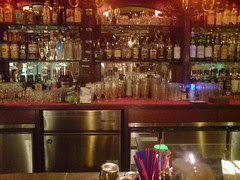 bar at the Rose & Crown