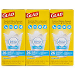 Glad OdorShield + Febreze Trash Bag - 6 boxes, 26 count each
