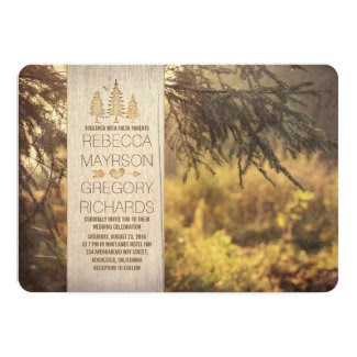 Forest Rustic Wedding Invitations