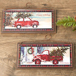 ''Bring Home the Tree'' Christmas Truck Wall Plaque, 3'' long x 6 3/4'' wide, Brown, Craft Supplies