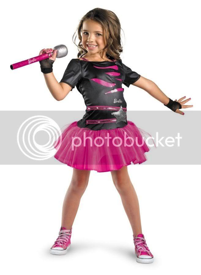 girls barbie rock star halloween costume  ebay