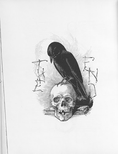 Louis Agassiz Fuertes - Raven and Skulls in the Cornellian 1896 (insight cornell)