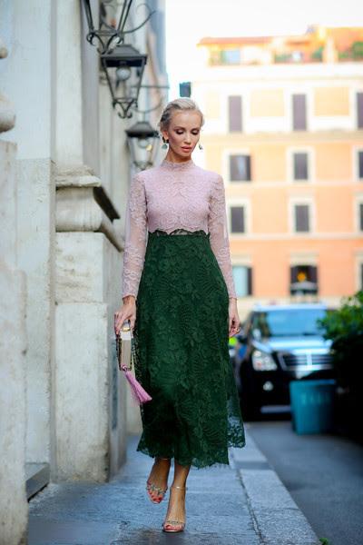 "fashion-clue: "" coolchicstylepensiero: "" Model and designer Tatiana Korsakova in Rome [ dressed Valentino ] "" www.fashionclue.net| Fashion Tumblr, Street Wear & Outfits """
