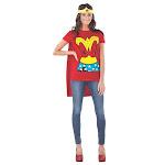 Rubies WonderWoman DC Comics Superman Adult Women Halloween Costume Shirt 880475 by fearless apparel