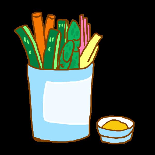 野菜スティックのイラスト かわいいフリー素材が無料のイラストレイン