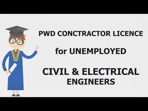 Unemployed Engineer: PWD Contractor Licence Registration