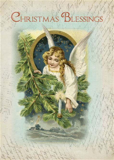 Vintage Religious Angel Blessings. Free Angel eCards