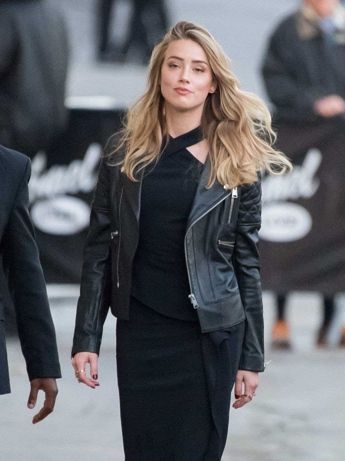 AMBER HEARD Arrives at Jimmy Kimmel Live in Los Angeles 11/18/2015