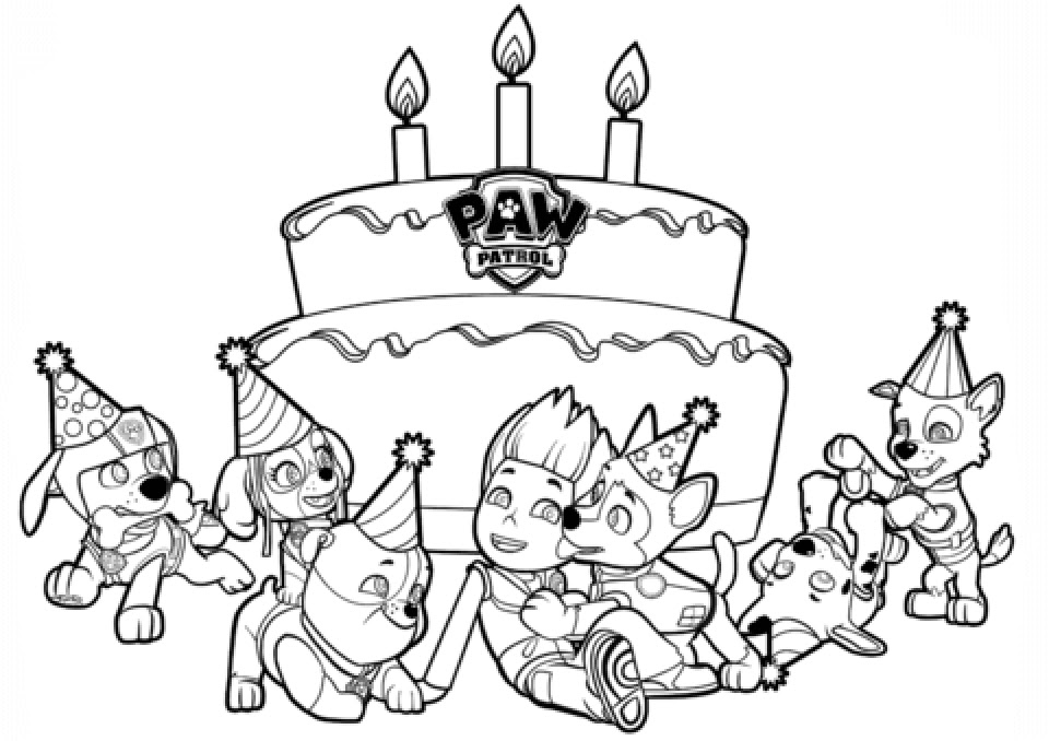paw patrol coloring pages free printable 27494