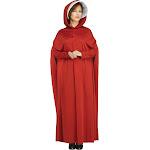Womens Red Handmaids Maiden Hooded Robe Cloak Cape Bonnet Halloween Costume