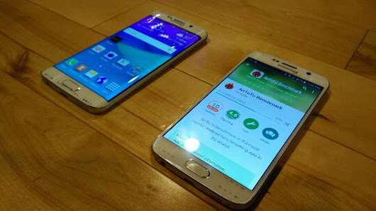 Galaxy S6 Edge and Galaxy S6 appear side-by-side in latest leak