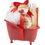 Freida and Joe - Pomegranate Bath Gift Set in a Tub