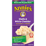 Annies Macaroni & Cheese, Shells & White Cheddar - 6 oz
