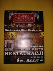 Georgian Restaurant, Cracow