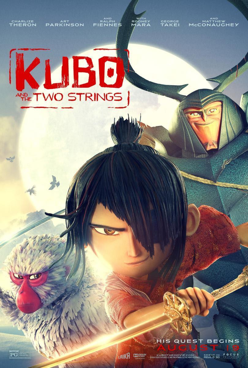 póster de Kubo y las tres cuerdas mágicas
