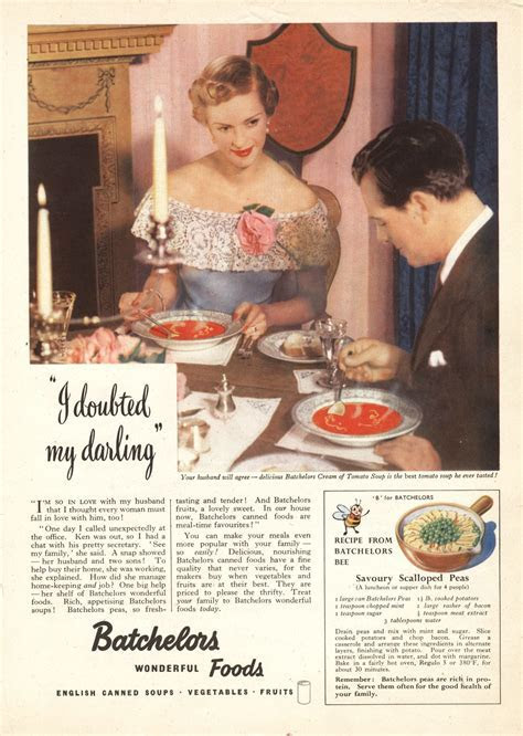 The Batchelors Foods 'Soup Opera' ads from the 1950s