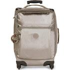 Kipling Women's Large Darcey Metallic Rolling Luggage Suitcase - Pewter