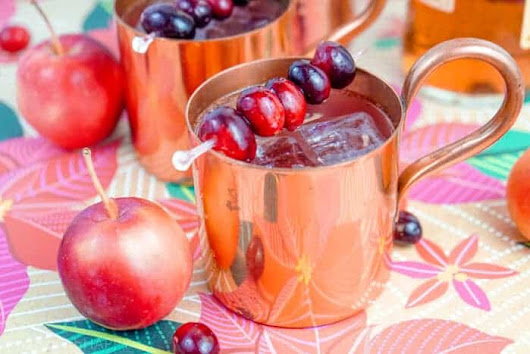 Cranberry Apple Mule Cocktail - Made with HAPPY