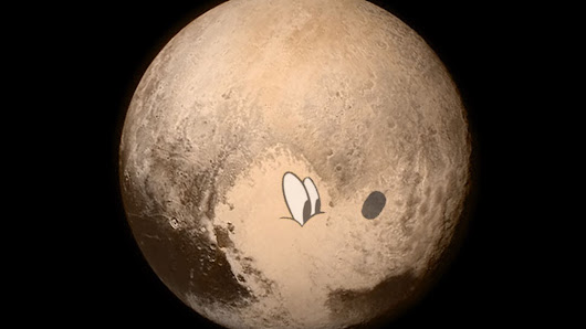 Pluto the dog can, like, totally be seen on Pluto the dwarf planet