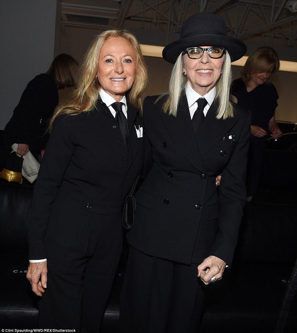 Twinning: Diane was later seen posing alongside Ralph's wife, author Ricky Lauren, who was dressed remarkably similar to the Father Of The Bride star