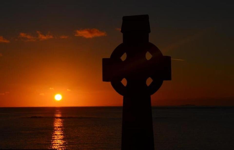 A sunset over Mweenish Island, Carna.