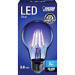 Feit Electric 3765104 3.6 watt A-Line A19 Filament LED Bulb Blue