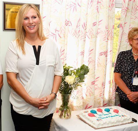 Pregnant Zara Phillips visits maternity ward   Photo