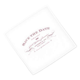 Elegant Type Save The Date Personalised Handkerchief