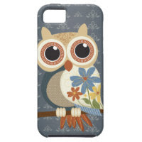 Owl with Vintage Flowers iPhone 5 iPhone 5 Covers