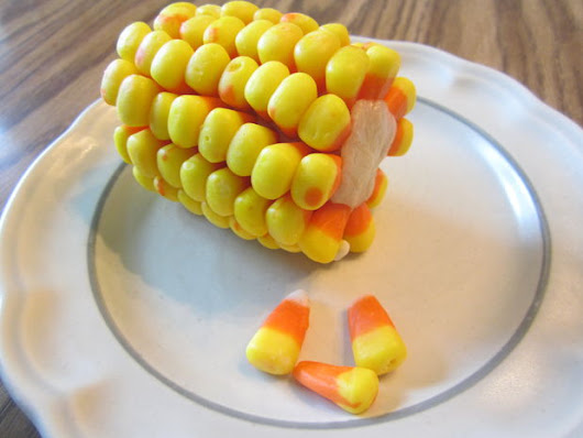 Candy Corn on the Cob - Dining at my Desk