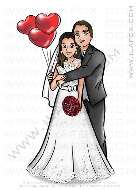 caricatura casal, caricatura noivos, caricatura sem exagero, caricatura bonita, by ila fox