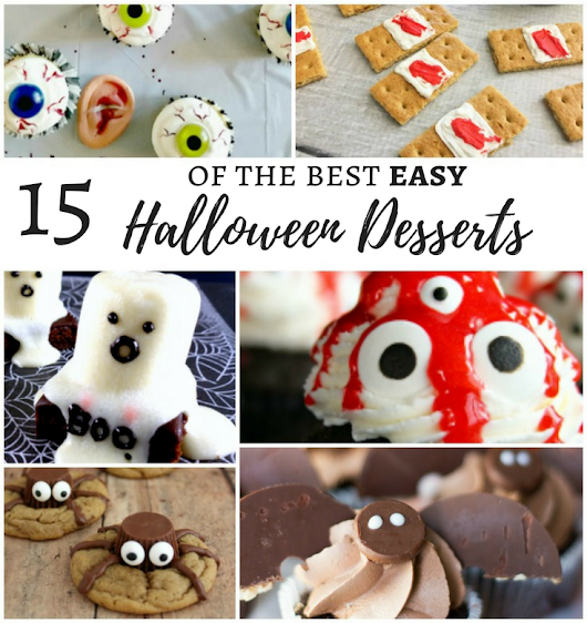 15 of The Best Easy Halloween Dessert Recipes - MM Link Party #173