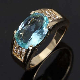 Jewelry Size 8,9,10,11,12 Aquamarine Gold Filled Fashion