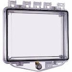 Safety Technology International Enclosure,Open,Clear,Flush,Key Lock STI-7510E