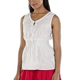 Product Image Merona® Women's Smocked Waist Blouse - Fresh White