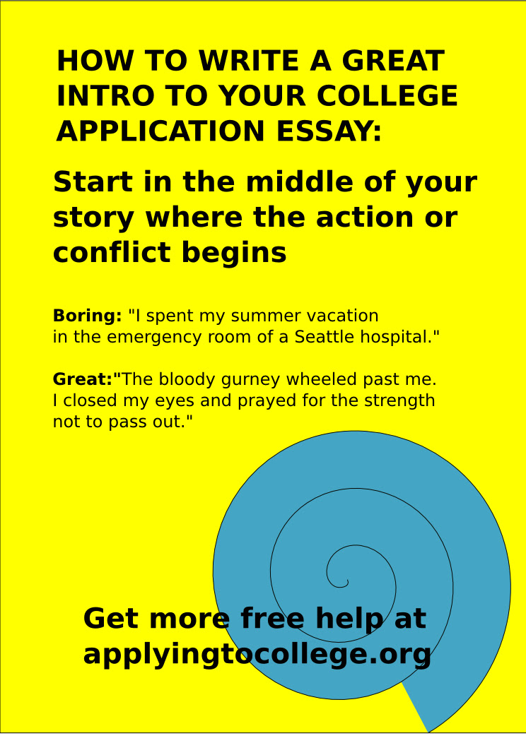 how to write a great essay for college applications