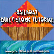 "Sailboat Quilt Block Pattern in 4 sizes: 4"", 6"", 8"", 12"""