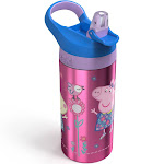 Peppa Pig Stainless Steel Water Bottle, Pink/Blue